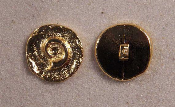 "6 Pewter Buttons JHB Round Metal Cherub Angel 11//16"" 18 mm lyk035"