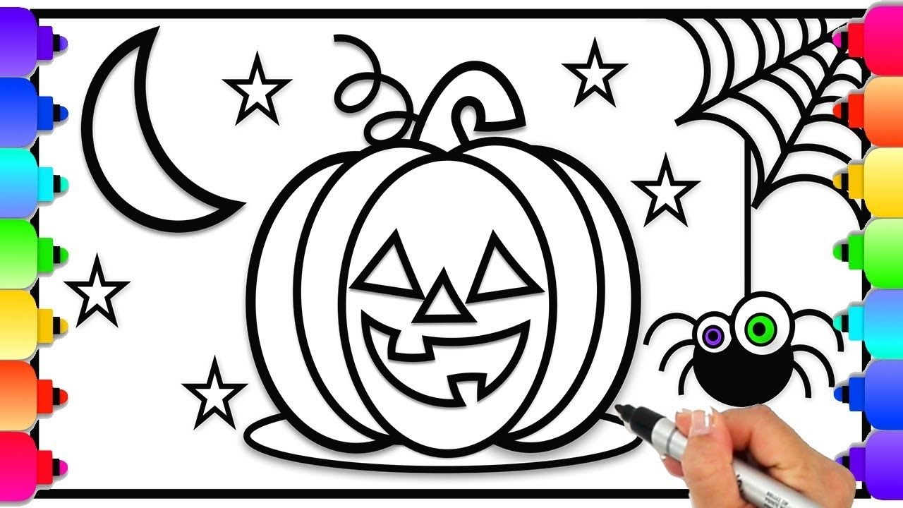 How to Draw and Color a Halloween Pumpkin for Kids Easy