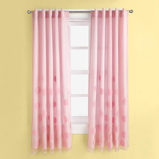 The Land Of Nod Kids Curtains Kids Pink Bubble Curtain