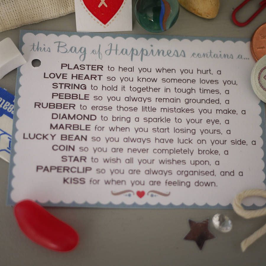 Little Bag Of Happiness Crafts Birthday Survival Kit