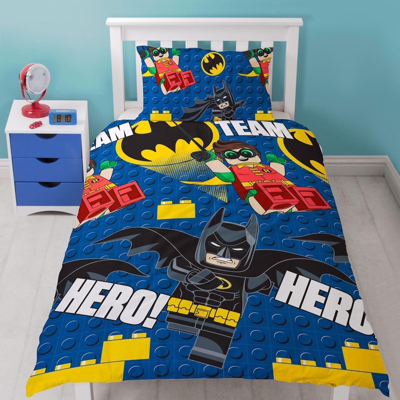 Lego Batman Hero Single Duvet Quilt Cover Set Boys Kids Childrens