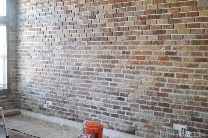 How To Install Interior Brick 5 Brick Veneer Diy Brick Wall Brick Interior Wall