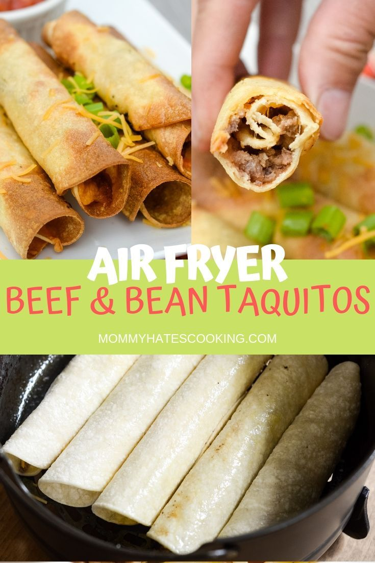 Air Fryer Beef and Bean Taquitos Recipe Air fryer
