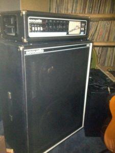 1970s VINTAGE ACOUSTIC 470 GUITAR / BASS AMP W/ 106 CABINET MINT ...