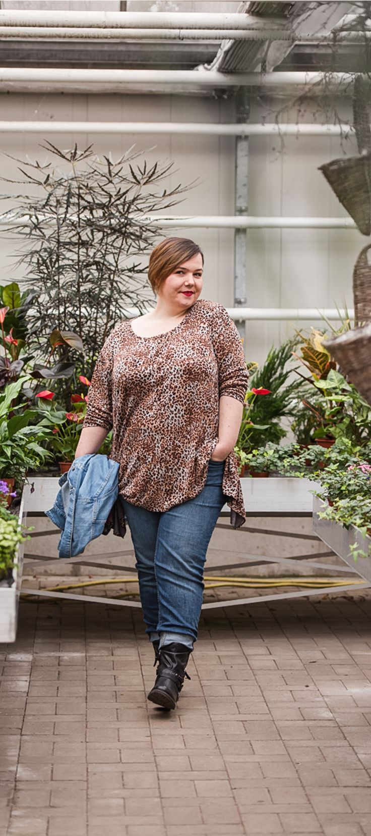 Pin auf Leoparden Muster Plus Size Mode