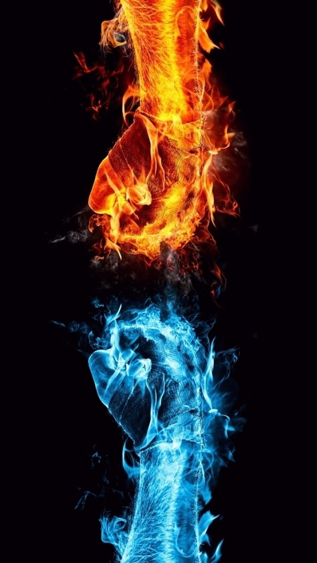 Red Yellow Blue Flames Pre Blue And Green Flame Bulbs Hd Iphone 5 Wallpapers Next Blue Fire Fire And Ice Fire Art Fire And Ice Wallpaper