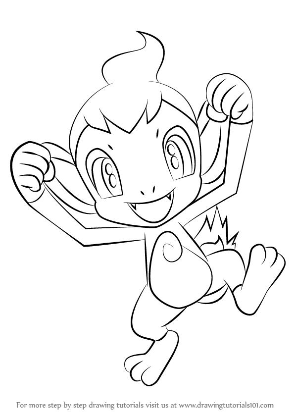 How To Draw Chimchar From Pokemon Drawingtutorials101 Com Pokemon Drawings Draw