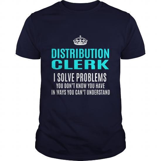 DISTRIBUTION CLERK T Shirts, Hoodies. Get it here ==► https://www.sunfrog.com/LifeStyle/DISTRIBUTION-CLERK-102714156-Navy-Blue-Guys.html?41382