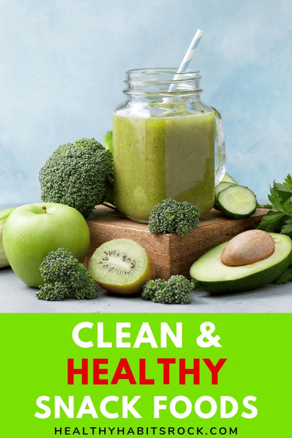 Clean & Healthy Snack Foods -Veggie Smoothie images