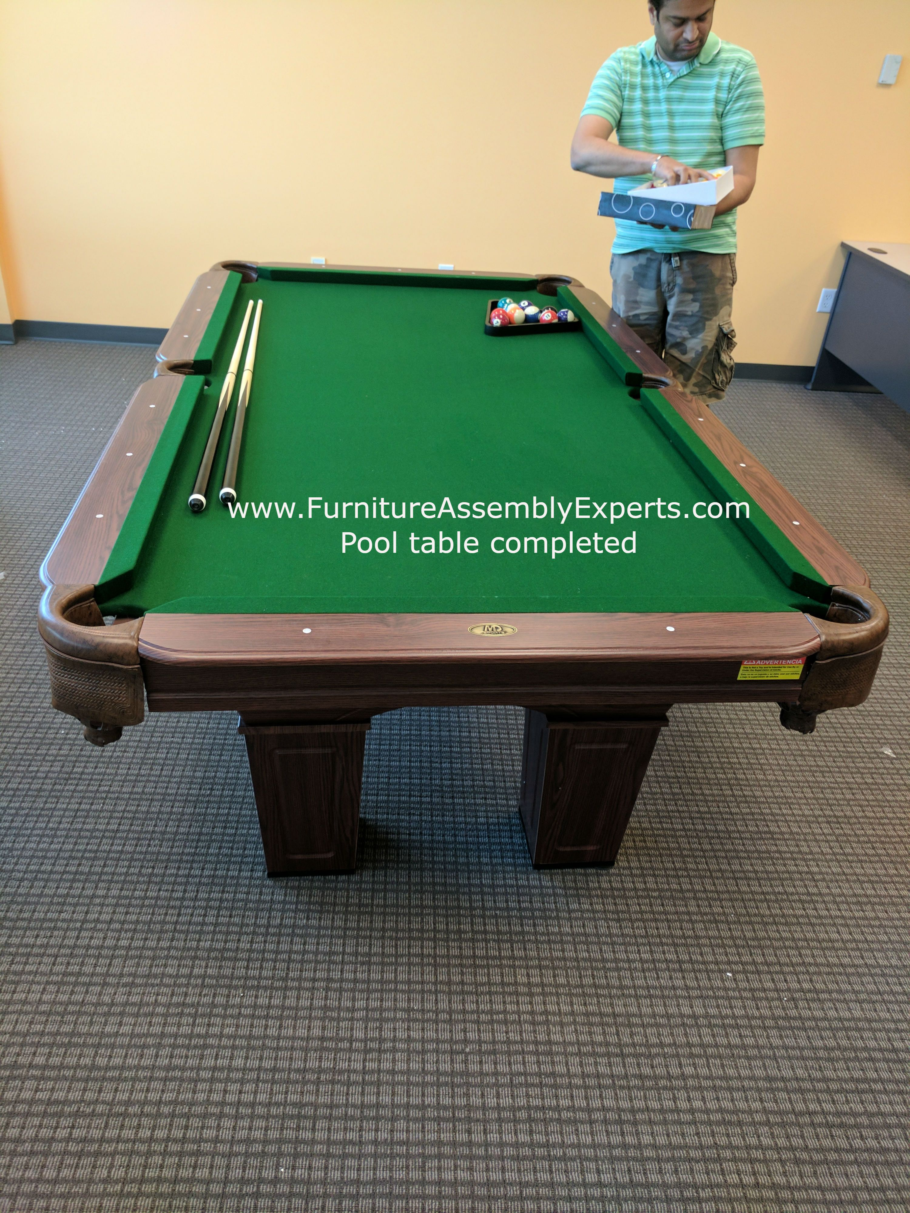Billiard pool table assembly and installation specialist