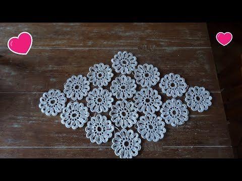Blumen Tischläufer Einfach Und Vergrößerbar Youtube Häkeln