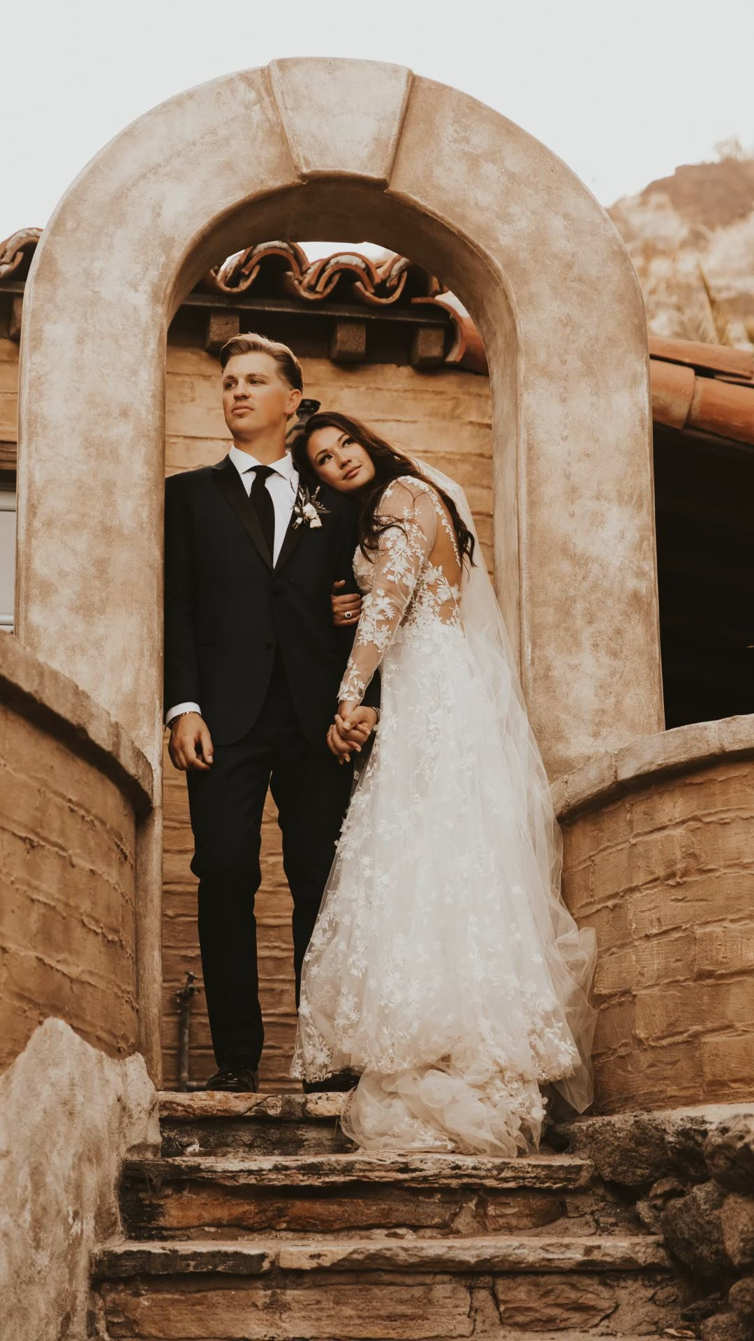 Bride and groom photos Palm Springs wedding
