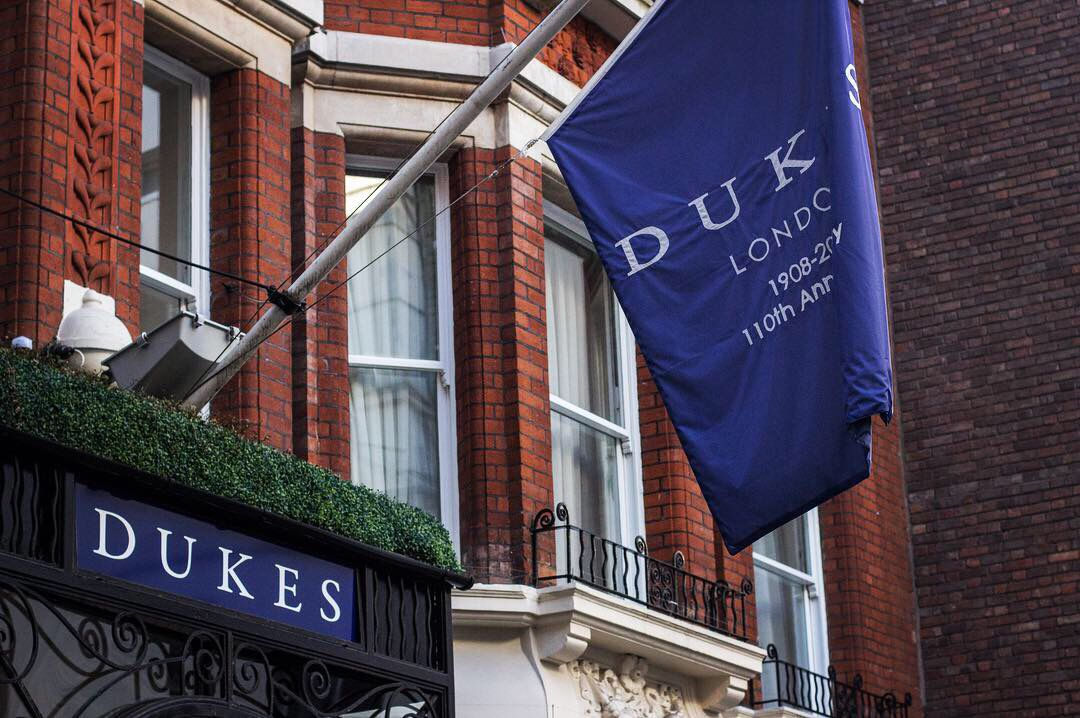 Jfk Sign Supplied And Installed Duke S Hotel Flag Sign Luxurysignage London Dukeslondon Jfk London Signs