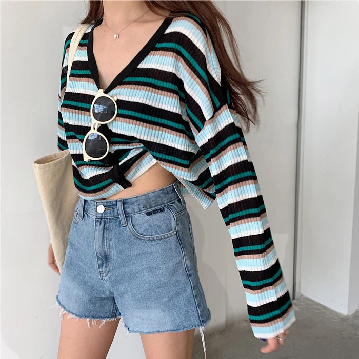 Ribbed Relaxed Cardigan In 2020
