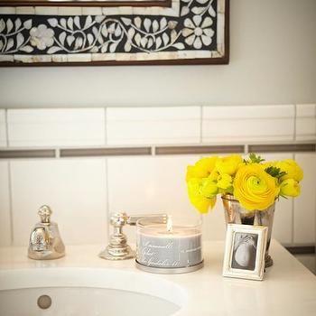 Bone Inlay Mirror, Transitional, bathroom, Laura Martin Bovard Interiors