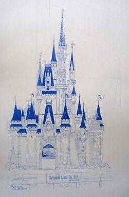 Tokyo disneyland castle blueprint by blueprintplace on for Florida blueprint