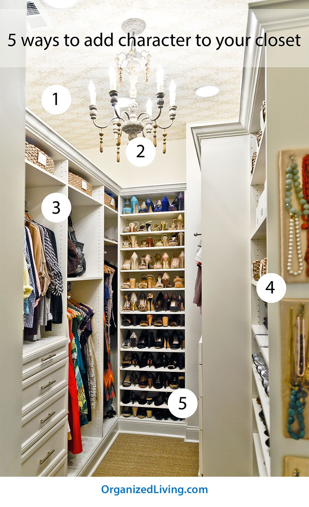 5 Ways To Add Character To A Closet | Organized Living
