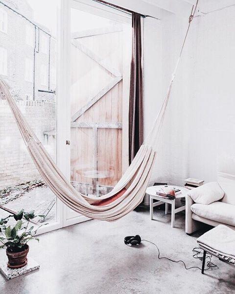 home, hammock, and interior Bild home Pinterest Wohnzimmer - deckenleuchten wohnzimmer landhausstil