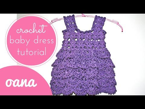 07aea5ac4 crochet baby dress - YouTube..easy to resize as adult top