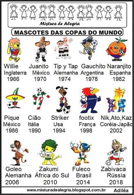 mascotes copas do mundo atividades imprimir jpg 464 677 pixels