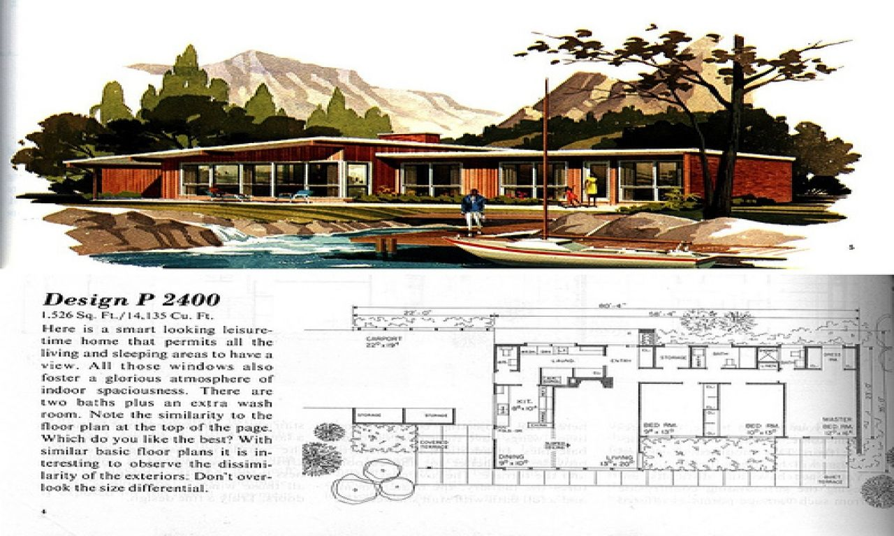 Mid Century Modern House Plans 1950's