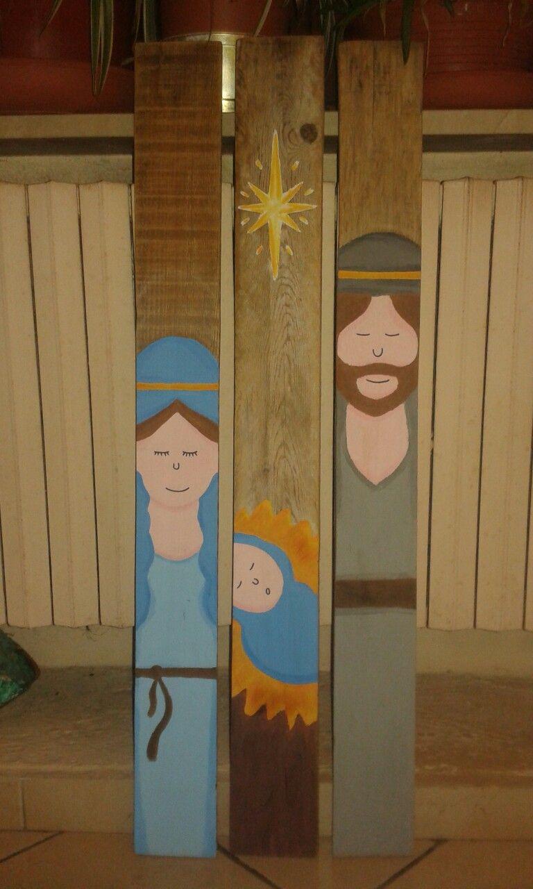 Pallet Nativity Scene Christmas Diy Hand Painted