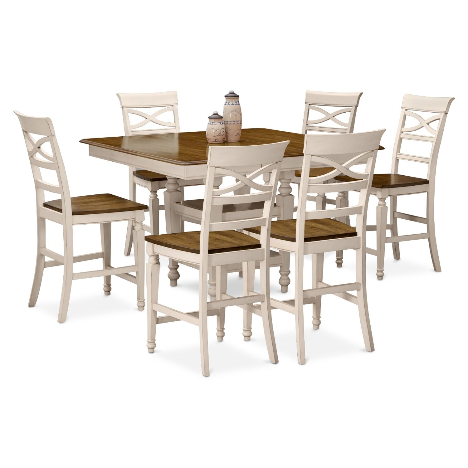 Chesapeake Ii 7 Pccounterheight Dining Room  Value City Glamorous City Furniture Dining Room Decorating Inspiration