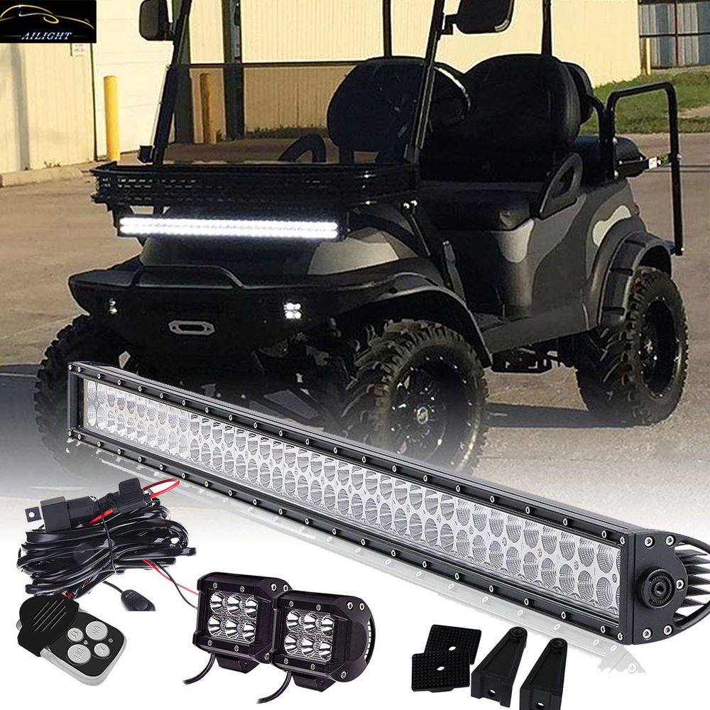 40 led light bar 2x4 led pods fit all club car ezgo yamaha golf carts and more ailight [ 1000 x 1000 Pixel ]