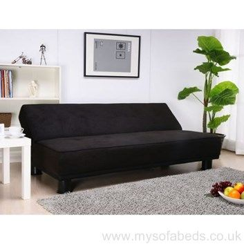 Amazing Not Just For Goths All Black Faux Suede Sofa Bed Simply Pabps2019 Chair Design Images Pabps2019Com