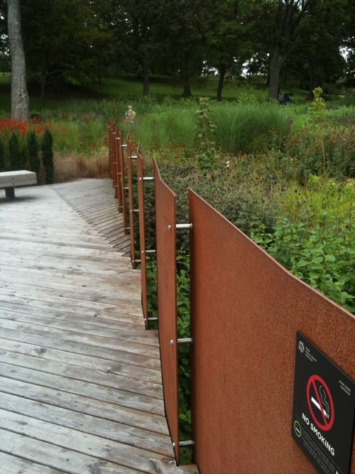 Corten Panels For Front Fencing Possibility Another Panel Idea For Heavy Steel Outdoor Element Fence Design Modern Landscaping Corten Steel