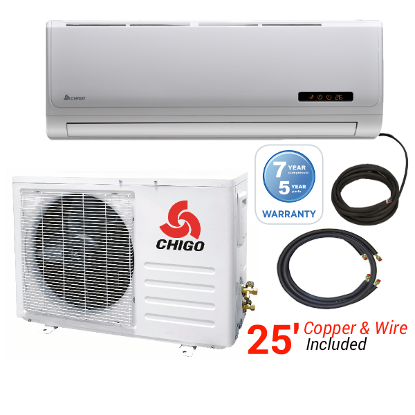 Chigo In Minisplitwarehouse Com Find The Best Air Conditioner For Your Space Chigo 9000 Btu 16 Seer 110v Heat Pump Air Conditioner Heat Pump Heat Pump System