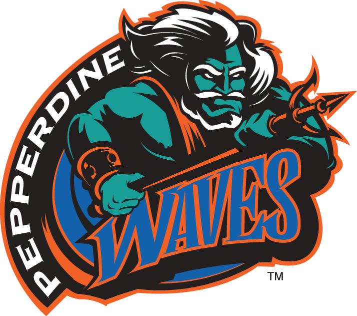 Pepperdine Waves Primary Logo (19982003) Neptune in