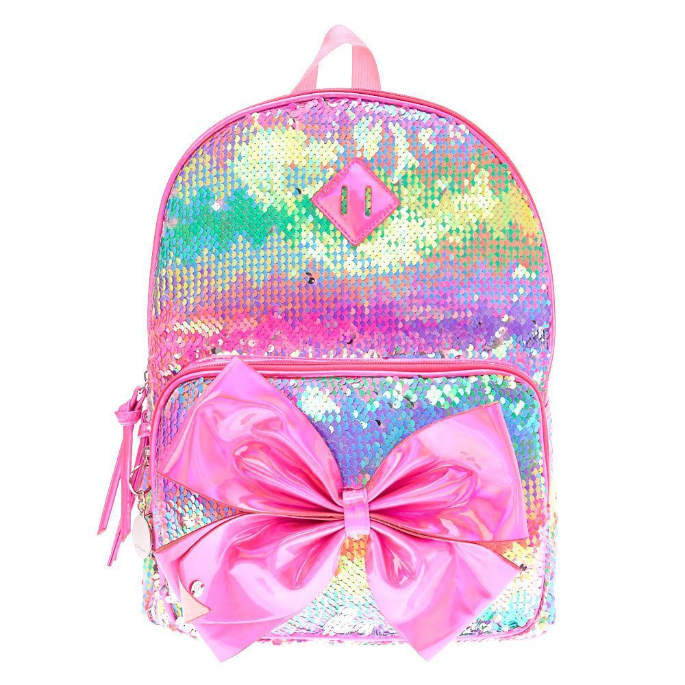 0d9aeb9a9 Claire's JoJo Siwa™ Rainbow Reversible Sequin Birthday Backpack ...