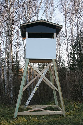 Building a deer stand deer hunting bear elk moose for Building deer blind windows