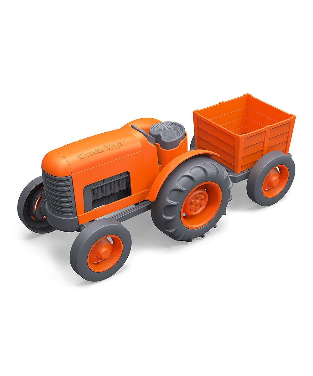 Look at this #zulilyfind! Orange Recycled Tractor & Trailer Set by Green Toys #zulilyfinds