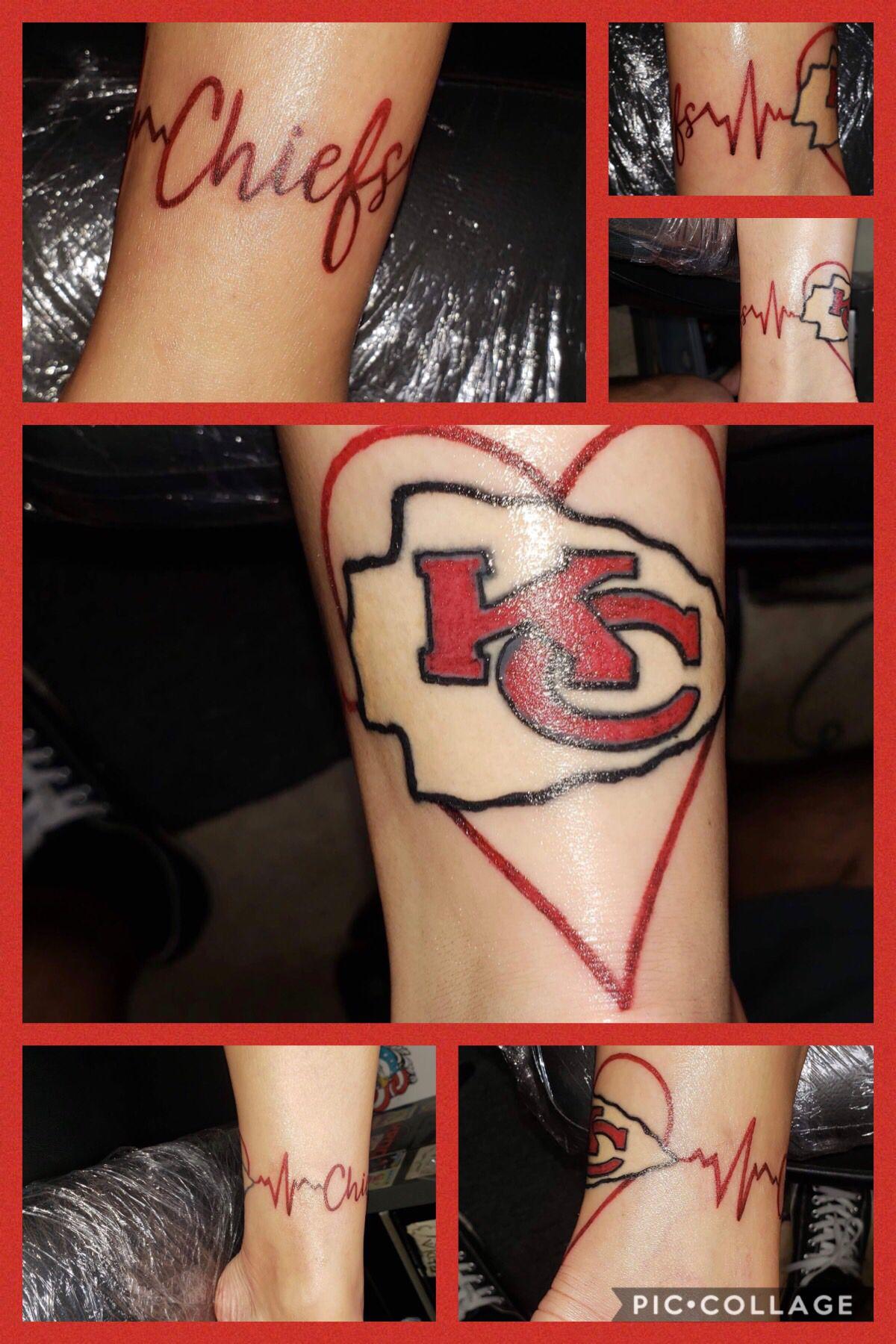 Im a diehard kc chiefs fan tattoos body art tattoos