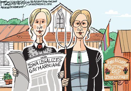 Gay Marriage Cartoons: Gay Marriage in Iowa