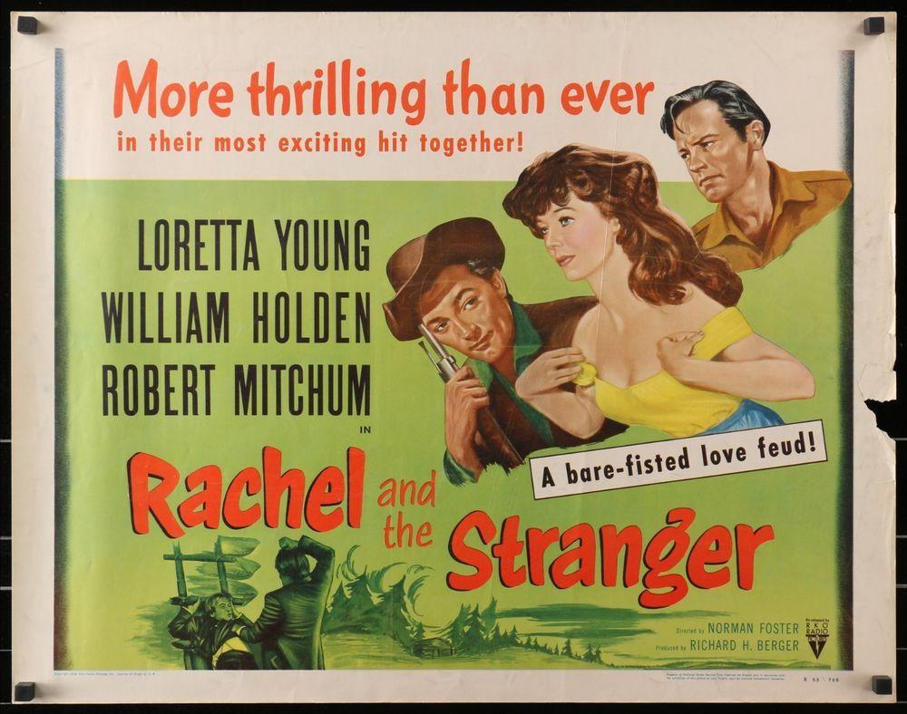 Rachel and the Stranger (1948) half sheet movie poster Robert ...