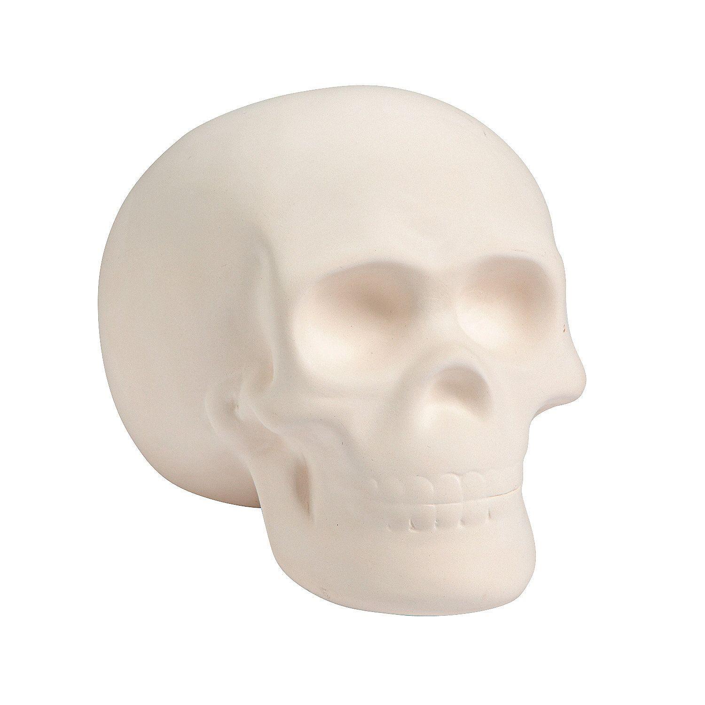 Diy Ceramic Skull Oriental Trading In 2020 Diy Ceramic Skull Crafts Ceramics
