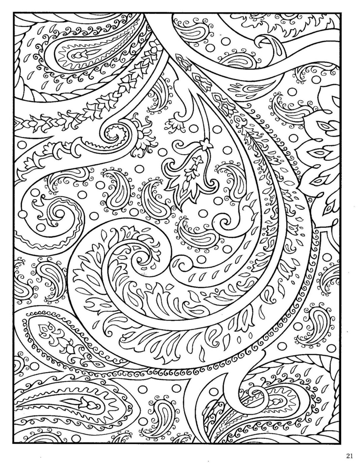 Dover Paisley Designs Coloring Book  Monochrome Motifs Patterns
