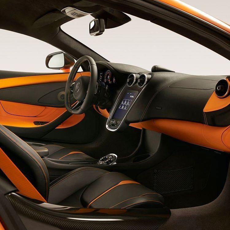 Mclaren 570s Interior Orange And Black Custom Mclaren 570s Super Cars Mclaren