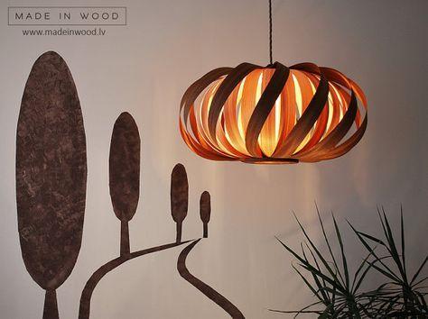 Deckenleuchte Moderne Naturliche Holzfurnier Exklusive Lampe Pendent Lampenschirm Beleuchtung Terrasse Licht Hangen Licht Aus Sapele Und Esche Lampendesign Lampen Holzlampe