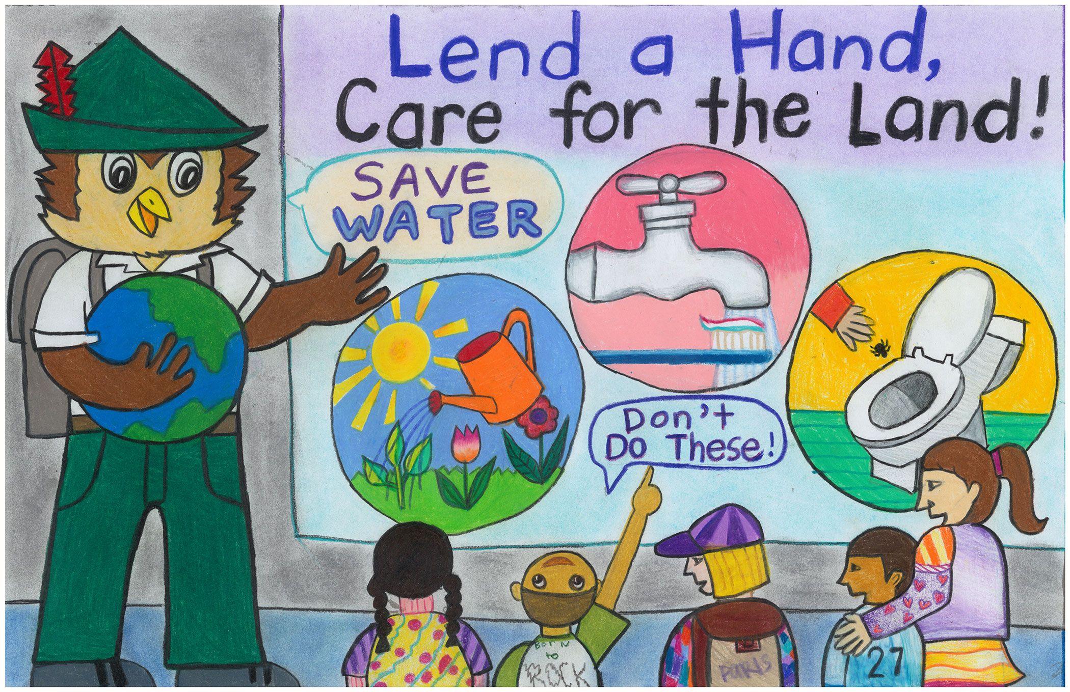 Go Green Gambar Poster Adiwiyata Yang Mudah Digambar