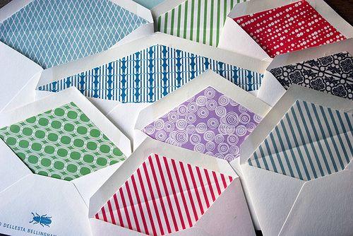 DIY Liners for Envelopes