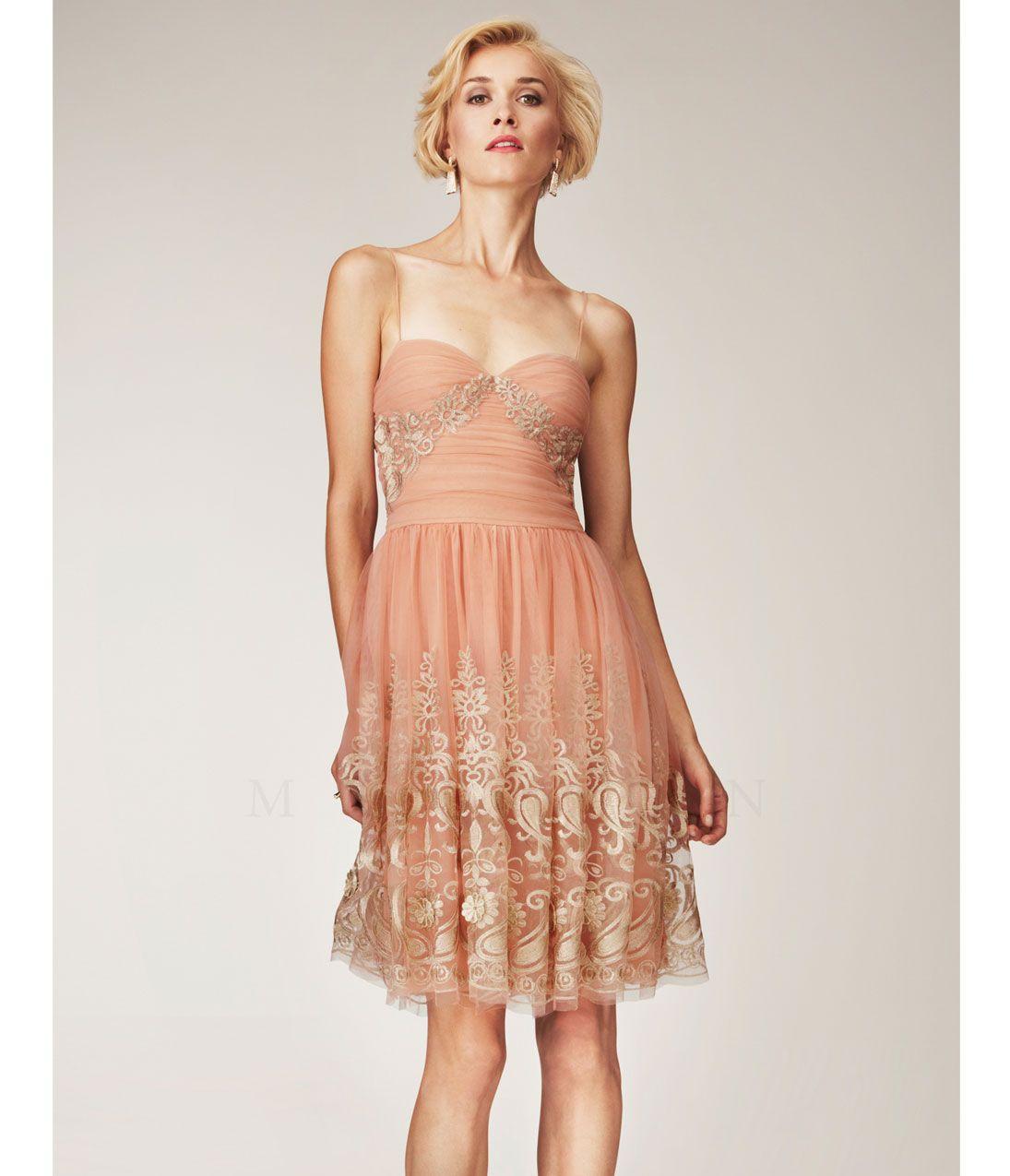 Salmon evening dress