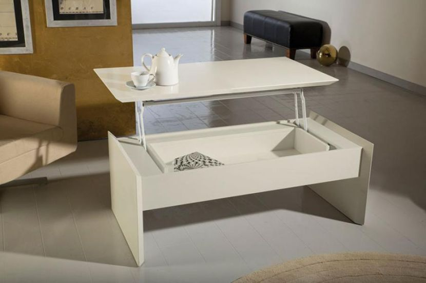 White Ikea Lift Top Coffee Table That Raises
