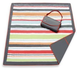 Jj Cole 5 Foot X 5 Foot All Purpose Outdoor Blanket In Grey Red