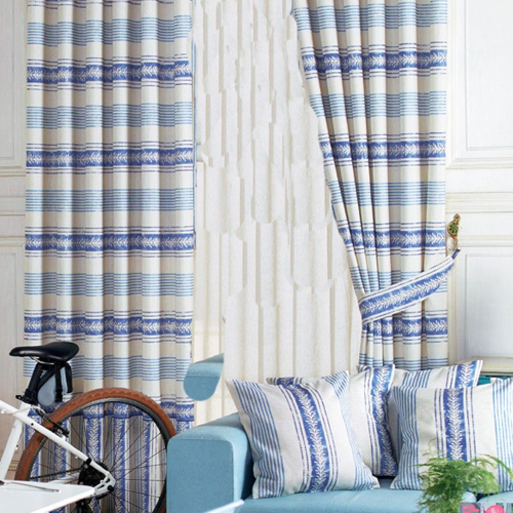 Mediterranean Blue Striped Curtains Milan Curtains Mediterranean Blue Blue Striped Curtains Striped Curtains