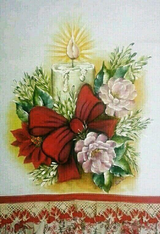 Coisas natalinas adornos y pinturas navide os - Adornos navidenos en tela ...