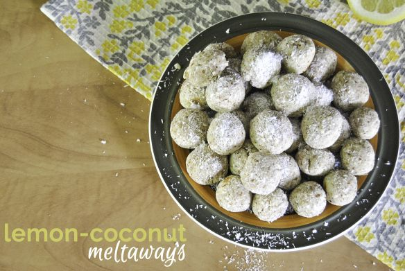 Lemon-Coconut Meltaways